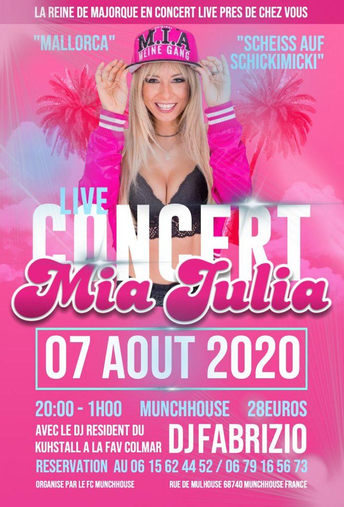 Affiche concert live Mia Julia